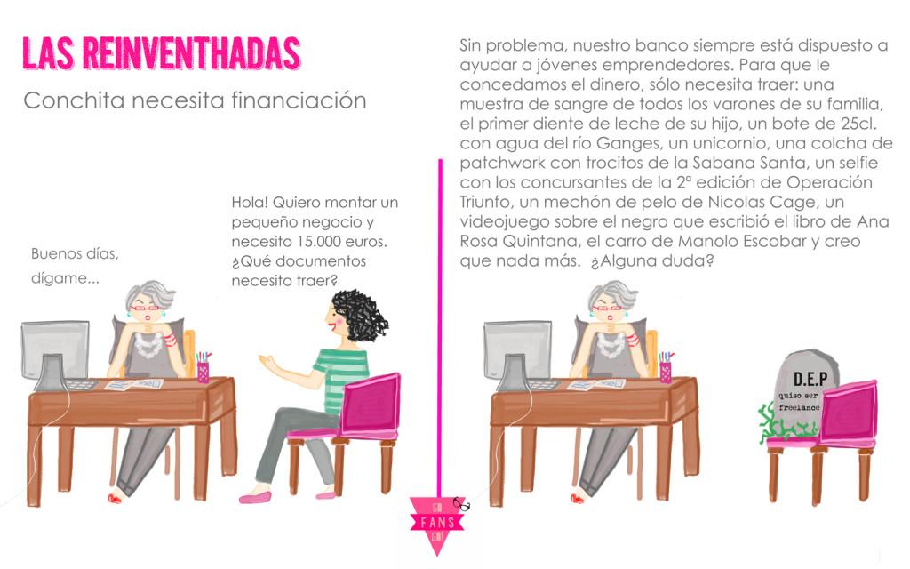 Las Reinventhadas_Conchita y el préstamo